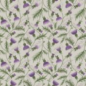 Lewis & Irene - Celtic Coorie - 6776 - Floral, All Over Thistle on Cream - A415.1 - Cotton Fabric